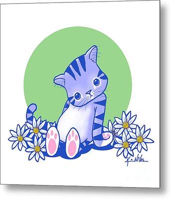 Yittle Kitty Metal Print by Kim Niles