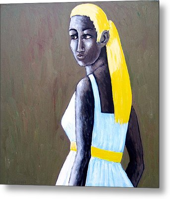 Metal Print featuring the painting Yolanda by Clarence Major