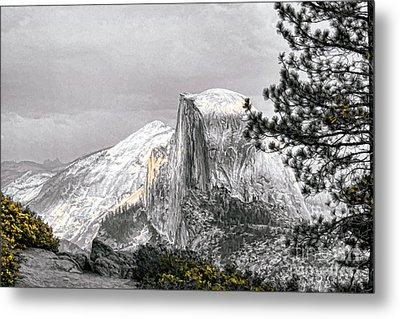 Yosemite Half Dome Metal Print by Chuck Kuhn