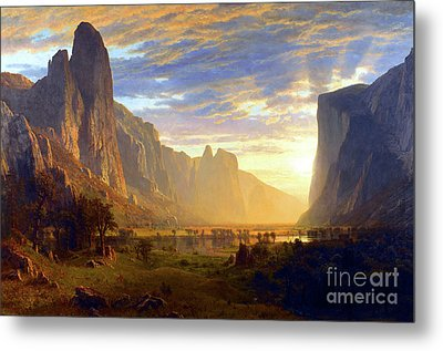 Yosemite Valley Metal Print by Albert Bierstadt