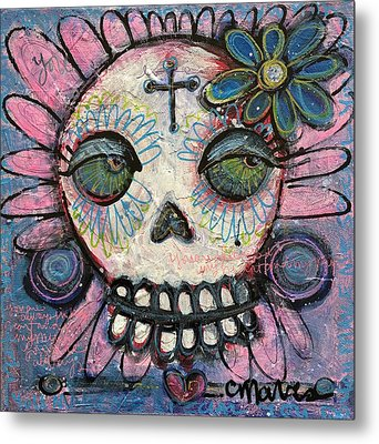 Metal Print featuring the painting You Are Always In My Heart by Laurie Maves ART