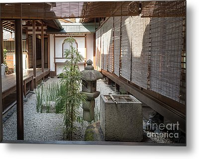 Zen Garden, Kyoto Japan Metal Print