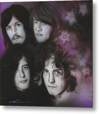 Led Zeppelin - ' Zeppelin ' Metal Print by Christian Chapman Art