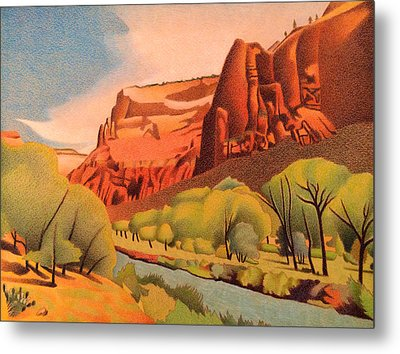 Zion Canyon Metal Print by Dan Miller
