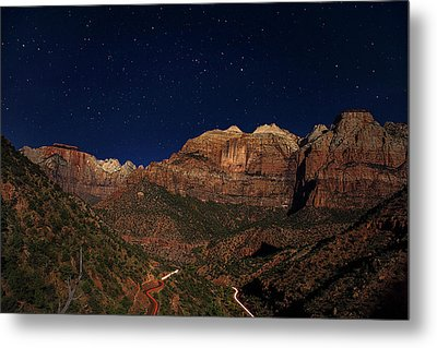 Zion Under The Stars Metal Print by Andrew Soundarajan
