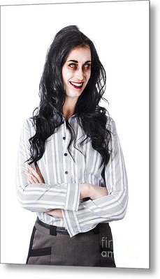 Zombie Businesswoman Metal Print by Jorgo Photography - Wall Art Gallery