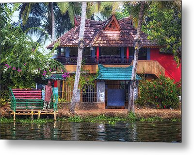 Backwaters Kerala - India Metal Print by Joana Kruse