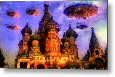Invasion Earth Metal Print by Raphael Terra