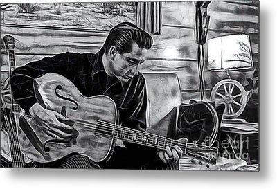 Johnny Cash Collection Metal Print