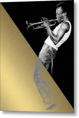 Miles Davis Collection Metal Print by Marvin Blaine