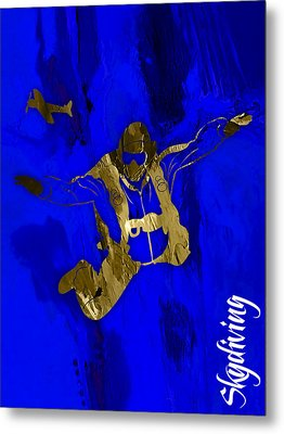 Skydiving Collection Metal Print by Marvin Blaine