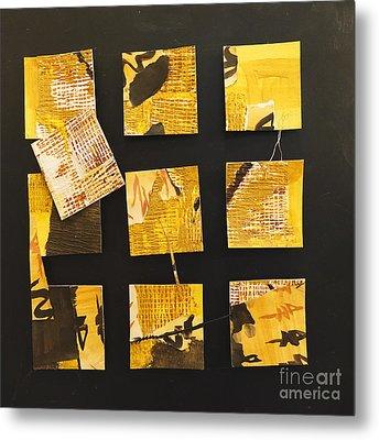 10 Square Metal Print