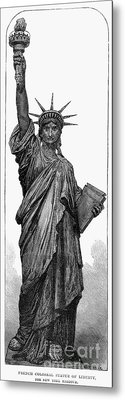 Statue Of Liberty Metal Print by Granger