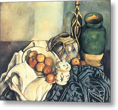 Still Life With Apples Metal Print