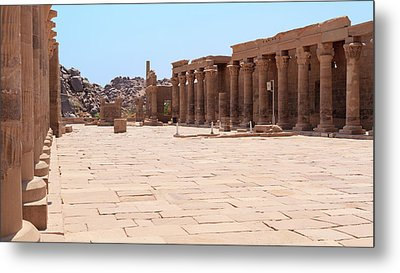 Metal Print featuring the photograph Temple Of Isis by Silvia Bruno