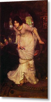 The Lady Of Shalott Metal Print by John William Waterhouse