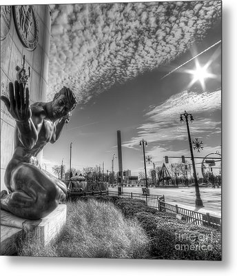 The Spirit Of Detroit Metal Print