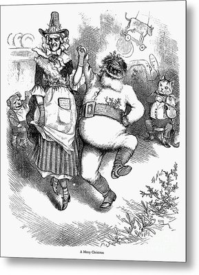 Thomas Nast: Christmas Metal Print