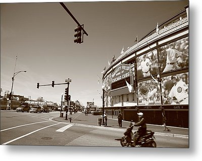 Wrigley Field - Chicago Cubs Metal Print by Frank Romeo