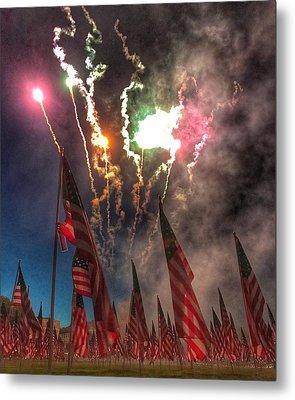 1,000-flag Charlestown Field Of Honor  Metal Print
