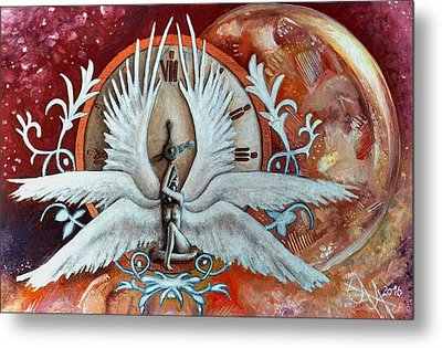 Seraphim Next To A Drop Metal Print by Ramona Boehme
