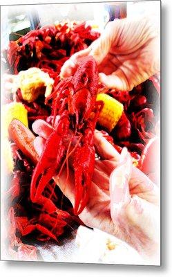 102715 Louisiana Lobster Metal Print by Garland Oldham