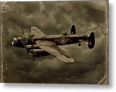 Metal Print featuring the photograph 103 Squadron Avro Lancaster by Steven Agius
