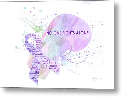 10969 No One Fights Alone Metal Print