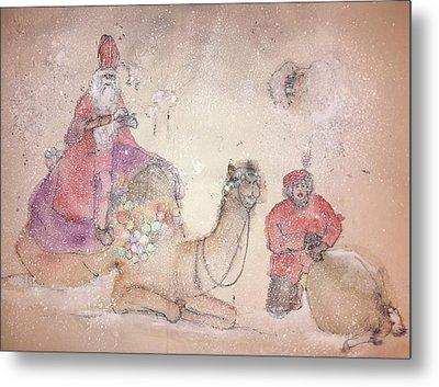 A Camel Story Album  Metal Print by Debbi Saccomanno Chan
