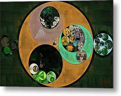 Abstract Painting - Onyx Metal Print by Vitaliy Gladkiy