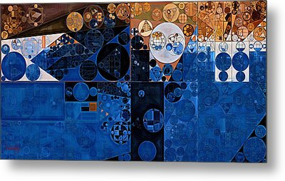 Abstract Painting - Confrontation Metal Print by Vitaliy Gladkiy