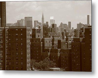 New York City Skyline Metal Print by Frank Romeo