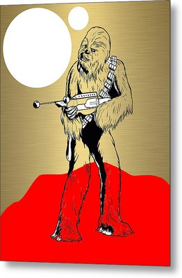 Star Wars Chewbacca Collection Metal Print by Marvin Blaine