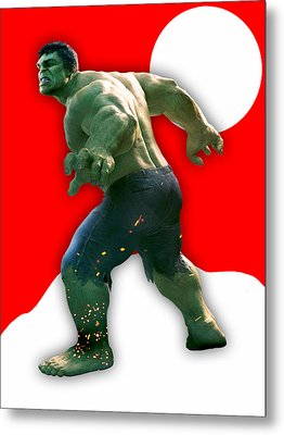The Incredible Hulk Collection Metal Print by Marvin Blaine