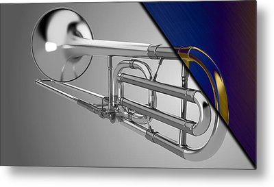 Trombone Collection Metal Print