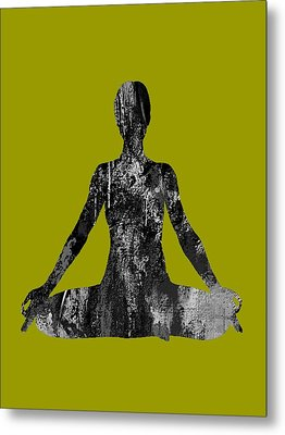 Yoga Collection Metal Print