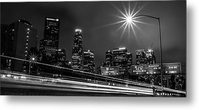 Metal Print featuring the photograph 110 Freeway Los Angeles by April Reppucci