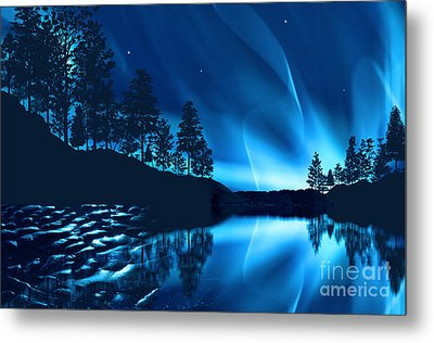 Metal Print featuring the photograph Aurora Borealis by Setsiri Silapasuwanchai