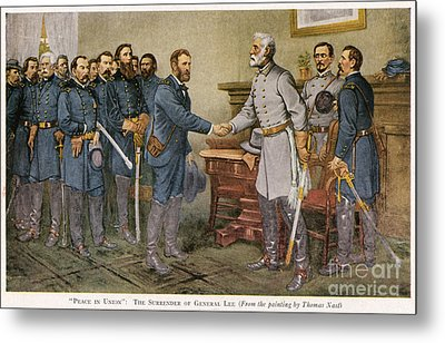 Lees Surrender 1865 Metal Print