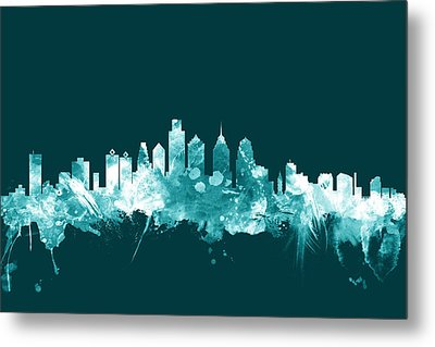 Philadelphia Pennsylvania Skyline Metal Print by Michael Tompsett