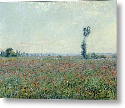 Poppy Field Metal Print by Claude Monet