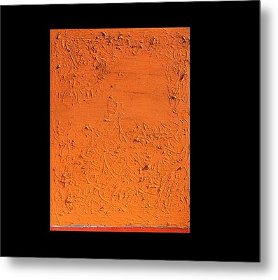 Orange No.11 16 X 20 2010 Metal Print by Radoslaw Zipper