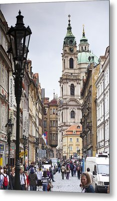 Streets Of Prague Metal Print by Andre Goncalves