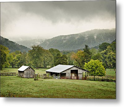 1209-1116 - Boxley Valley Barn Metal Print by Randy Forrester