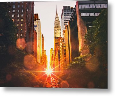 New York City Metal Print by Vivienne Gucwa