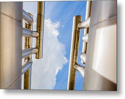 Pipes At Nesjavellir Geothermal Power Metal Print