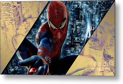 Spiderman Collection Metal Print by Marvin Blaine
