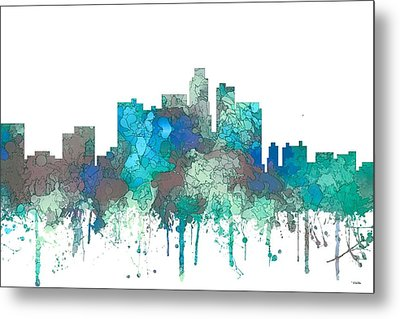 Metal Print featuring the digital art Los Angeles California Skyline by Marlene Watson