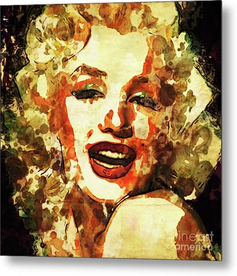Marilyn Monroe Vintage Hollywood Actress Metal Print