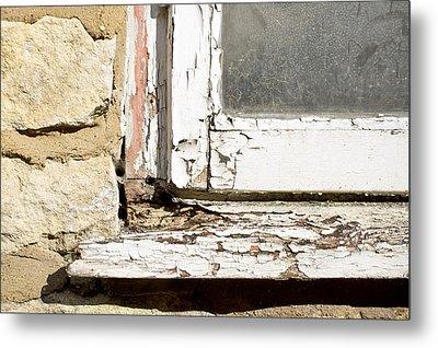 Old Window Metal Print by Tom Gowanlock